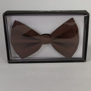 Brown Mens Bow Tie